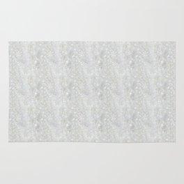 White Apophyllite Close-Up Crystal Rug