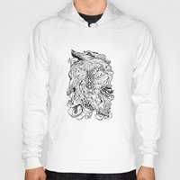 berserk Hoodies featuring THE HOUND - WHITE by SOMNIVAGRIOUS
