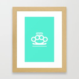 Bangin' Brass Knuckles Framed Art Print