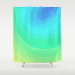 Blue, Green, & Turquoise Gradient Ellipses Shower Curtain