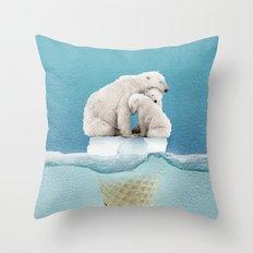 polar ice cream cap 02 Throw Pillow