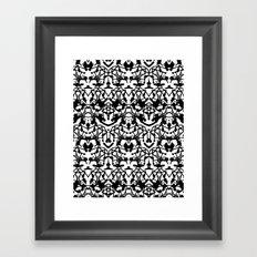 Rorschach madness Framed Art Print
