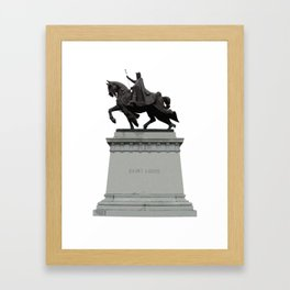 King Louie IX Framed Art Print