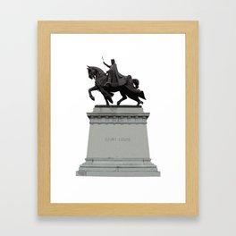 King Louie IX Framed Art Print