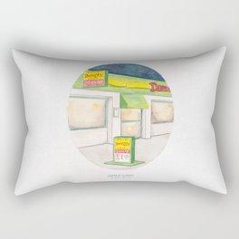 Haruki Murakami's After Dark Watercolor Illustration Rectangular Pillow