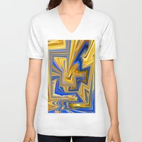 alchemy V-neck T-shirts featuring Attempted Alchemy by David  Gough