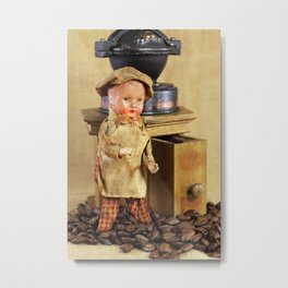 Coffee man Metal Print