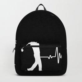 Golf heartbeat golf clubs golfer Backpack