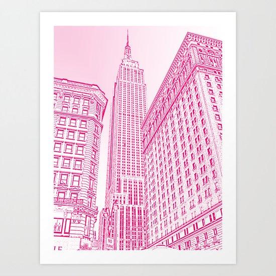 A Pink Empire Art Print
