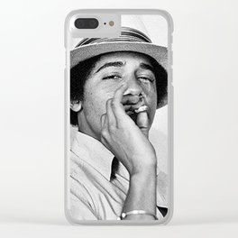 President Obama Smoking Clear iPhone Case