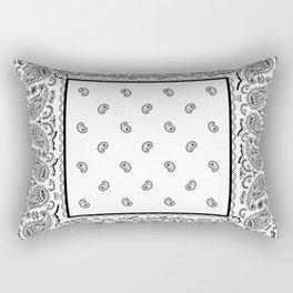 Classic White Bandana Rectangular Pillow