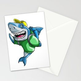 Shark Back to School Kids Pre-School Elementary Stationery Cards