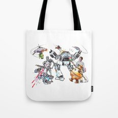 Bolts Vs. Bots Tote Bag