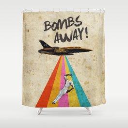 Bombs away! Shower Curtain