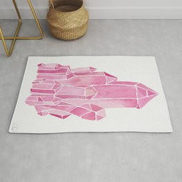 Rose Quartz Watercolor Rug