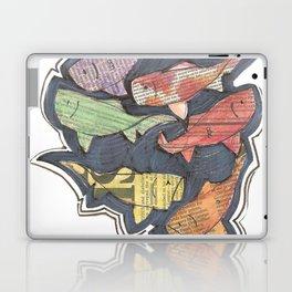Newspaper Fish Laptop & iPad Skin