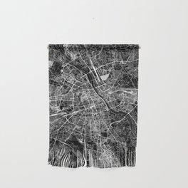 Warsaw Black Map Wall Hanging