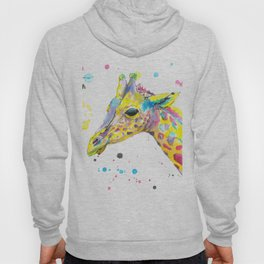 Giraffe - Watercolor Painting Hoody