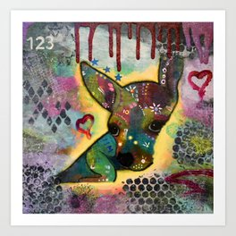 Jimmy Chihuahua Art Print