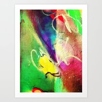 graffiti Art Prints featuring Graffiti  by Shannon Curtis