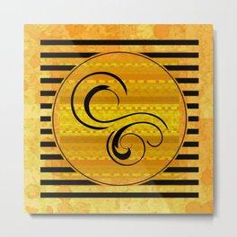 Swirls, Stripes, and Shapes Metal Print