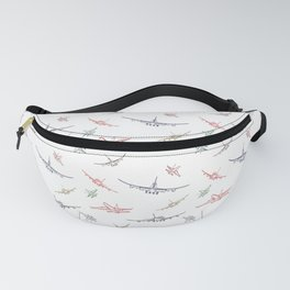Colorful Plane Sketches Fanny Pack