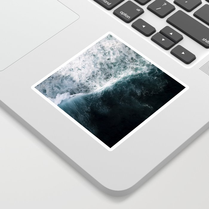 Oceanscape - White and Blue Sticker