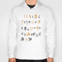 numbers Hoodies featuring prime numbers by taichi_k