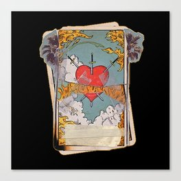 Halsey Heart Tarot card Canvas Print