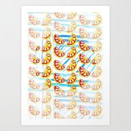 Stripes and Oranges Art Print