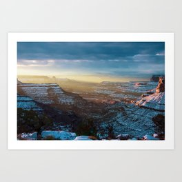 Sunrise on Christmas Morning in Canyonlands. Utah. Art Print