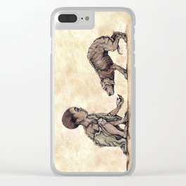 Boy and Puppy Clear iPhone Case