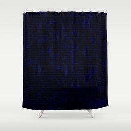 Dark Blue Pixels Shower Curtain