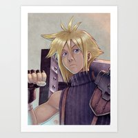 Final Fantasy - Cloud Strife Tribute Art Print
