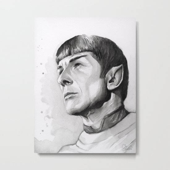 Star Trek Spock Portrait Metal Print