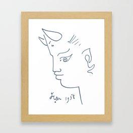 Jean Cocteau Tete de Faune (Head of Fauna), Artwork, Posters, Prints, Tshirts, Men, Women, Kids Framed Art Print