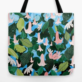 Mood Flowers #painting #nature Tote Bag