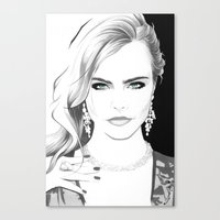 "cara Canvas Prints featuring ""Cara"" by Kenneth J. Franklin"
