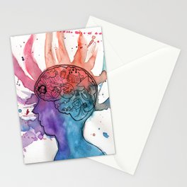 This Is Your Brain On Inspiration Stationery Cards