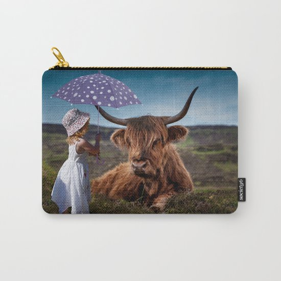 Young Child with Cow Carry-All Pouch