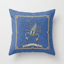 Vintage Astrology - Scorpio Throw Pillow