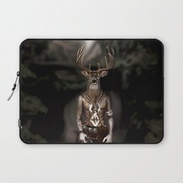 Skinwalker Navajo inspired shapeshifter with deer head Laptop Sleeve