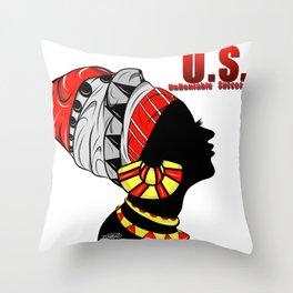 Black Queen (red) Throw Pillow