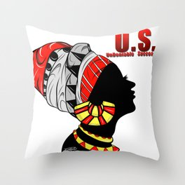 Black Queen (red) Throw Pillow