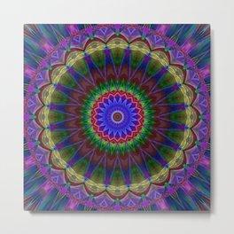 Mandala Colorexplosion Metal Print