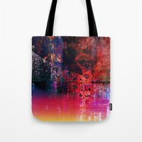 fargo Tote Bags featuring Fargo abstraction by Jean-François Dupuis