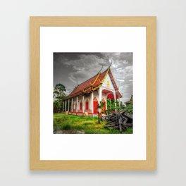 Small Temple Garden Thailand Framed Art Print
