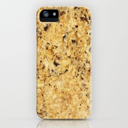 Modern gold yellow black abstract stylish marble iPhone Case