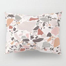Neutral Terrazzo / Earth Tone Abstraction Pillow Sham