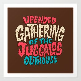 Upended Gathering Of The Juggalos Outhouse Art Print